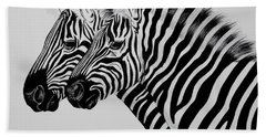 Zebra Twins Bath Towel by Cheryl Poland