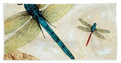 Zen Flight - Dragonfly Art By Sharon Cummings Bath Towel