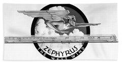 Zephyrus, The West Wind God Bath Towel