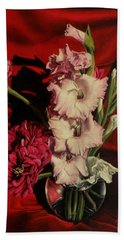 Zinnias And Gladiolas Hand Towel