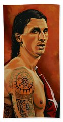 Zlatan Ibrahimovic Painting Hand Towel by Paul Meijering