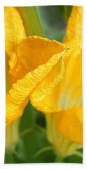 Zucchini Flowers In May Bath Towel