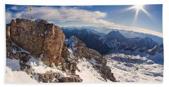 Zugspitze Summit Bath Towel