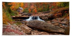 Autumn Leaves At The Mill Hand Towel by Randall Branham
