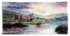 Late Evening At Tintern Abbey Hand Towel