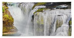 Lower Falls On The Upper Lewis River Hand Towel