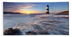 Penmon Point Lighthouse Bath Towel
