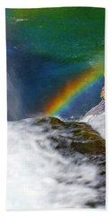 Rainbow By The Waterfall Hand Towel