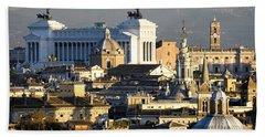 Rome's Rooftops Hand Towel