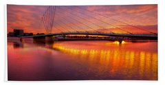 Sunset Over The Quay Bath Towel