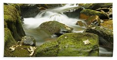 Water Flow At Torc  Hand Towel by Martina Fagan