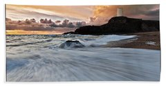 Llanddwyn Island Lighthouse Bath Towel