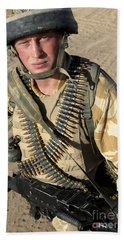 A British Army Soldier Equipped Bath Towel