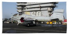 An Ea-6b Prowler Makes An Arrested Hand Towel