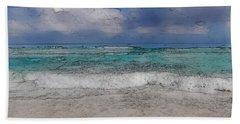 Beach Background Hand Towel