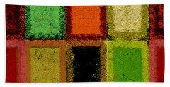 Bath Towel featuring the digital art Color Palette by Mihaela Stancu