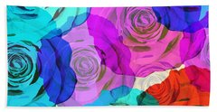 Colorful Roses Design Hand Towel