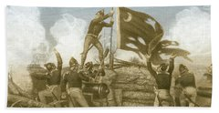 Defense Of Fort Moultrie, 1776 Hand Towel