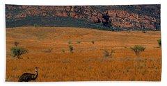 Emu Dreaming Hand Towel by Bruce J Robinson