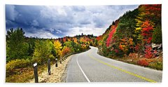 Fall Highway Hand Towel
