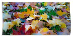 Hand Towel featuring the photograph Fall Leaves by Steve McKinzie