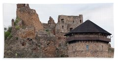 Hand Towel featuring the photograph Filakovo Hrad - Castle by Les Palenik