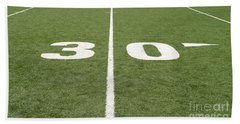 Bath Towel featuring the photograph Football Field Thirty by Henrik Lehnerer