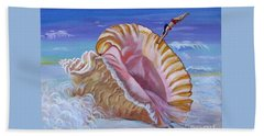Magic Conch Shell Hand Towel by Phyllis Kaltenbach