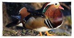 Mandarin Duck Hand Towel