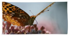 Hand Towel featuring the photograph Monarch Butterfly by Heidi Poulin