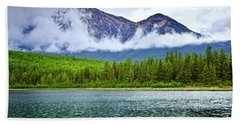 Mountain Lake In Jasper National Park Bath Towel