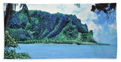 Pacific Island Hand Towel by Stan Hamilton