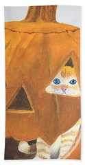 Bath Towel featuring the painting Peekaboo by Norm Starks
