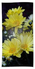 Pretty In Yellow Bath Towel by Karen Harrison