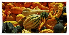 Pumpkins And Gourds Bath Towel