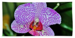 Bath Towel featuring the photograph Purple Orchid by Sherman Perry