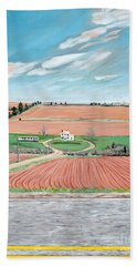 Red Soil On Prince Edward Island Hand Towel