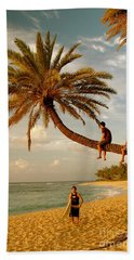 Sunset Beach Oahu Hand Towel by Mark Gilman