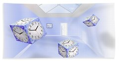 Time Cubed Bath Towel by Mike McGlothlen