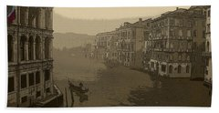 Hand Towel featuring the photograph Venice by David Gleeson