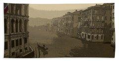 Bath Towel featuring the photograph Venice by David Gleeson