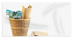 Waste Paper Bin Bath Towel