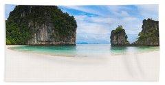 White Sandy Beach In Thailand Hand Towel