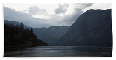 Lake Bohinj At Dusk Hand Towel