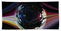 Bath Towel featuring the digital art The Eye by Mihaela Stancu