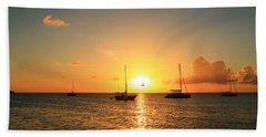 Sunset Hand Towel by Catie Canetti