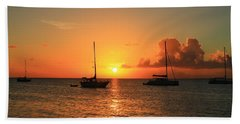 Hand Towel featuring the photograph Sunset by Catie Canetti