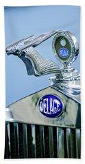 1933 Delage D8s Coupe Hood Ornament Bath Towel