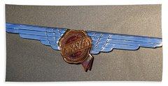 Hand Towel featuring the photograph 1937 Chrysler Airflow Emblem by Gordon Dean II