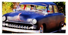 Hand Towel featuring the photograph 1950 Ford  Vintage by Peggy Franz